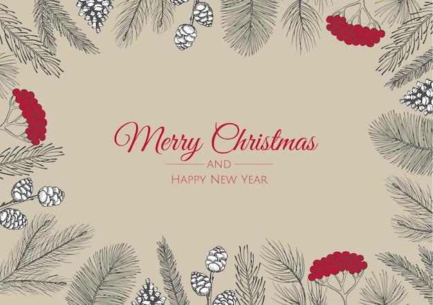 Feliz natal e feliz ano novo conjunto de sinais abstratos, rótulos ou modelos de logotipo.