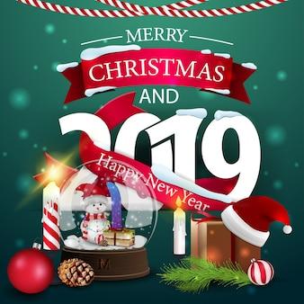 Feliz natal e feliz ano novo de 2019