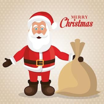 Feliz natal e feliz ano novo design de cartão
