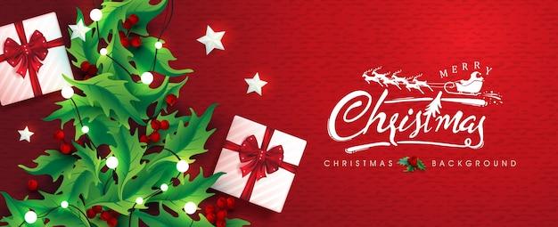 Feliz natal e feliz ano novo design de fundo. letras caligráficas de natal.