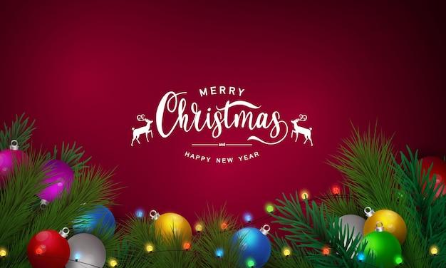 Feliz natal e feliz ano novo elegantes saudações