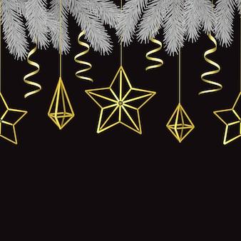 Feliz natal e feliz ano novo escandinavo padrão sem emenda
