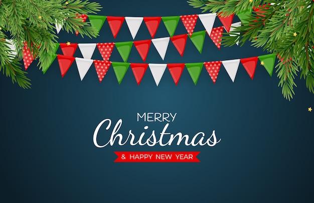 Feliz natal e feliz ano novo feriado