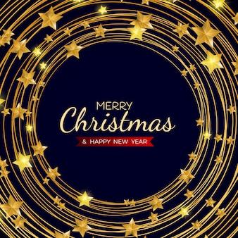 Feliz natal e feliz ano novo fundo de modelo de feriado