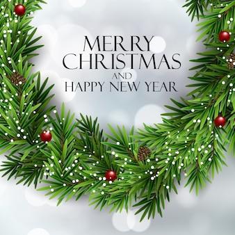 Feliz natal e feliz ano novo fundo. ilustração