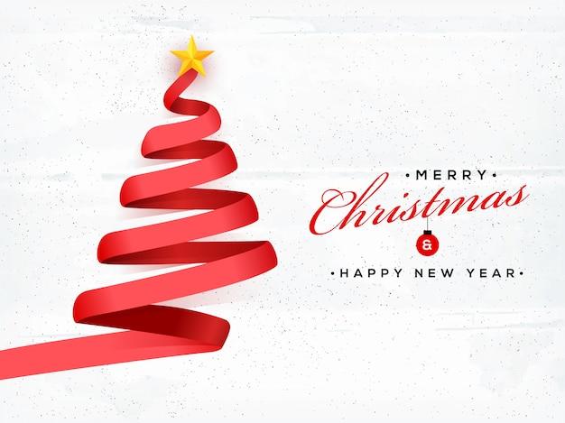 Feliz natal e feliz ano novo fundo