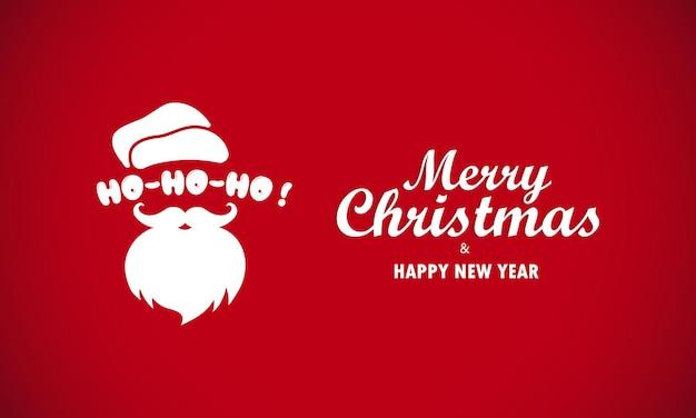 Feliz natal e feliz ano novo greating cartão com papai noel. vetor em fundo isolado. eps 10.