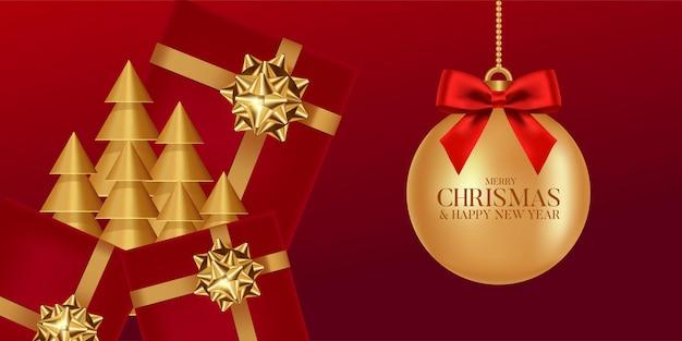 Feliz natal e feliz ano novo ilustração vetorial.