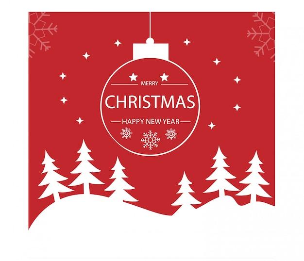 Feliz natal e feliz ano novo. ilustração vetorial.