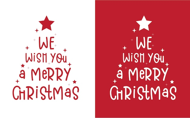 Feliz natal e feliz ano novo mão desenhada lettering design de cartão