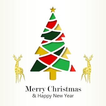 Feliz natal e feliz ano novo modelo de cartão de letras
