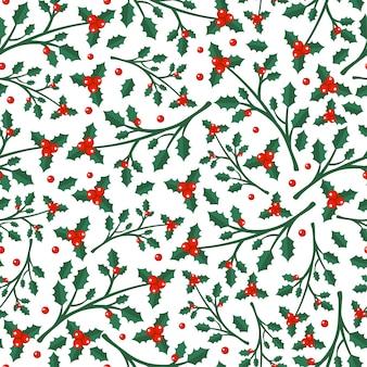 Feliz natal e feliz ano novo padrão sem emenda de inverno com objetos de férias. ilustração