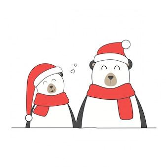 Feliz natal e feliz ano novo personagens planas fofos.