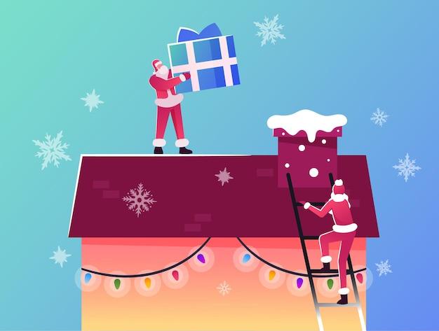Feliz natal e feliz ano novo, saudações de férias de inverno