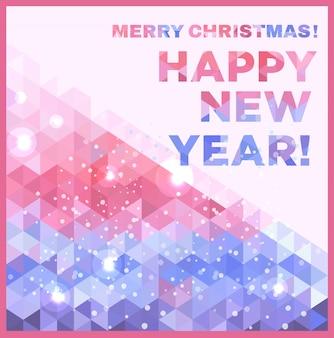 Feliz natal e feliz cartão de ano novo
