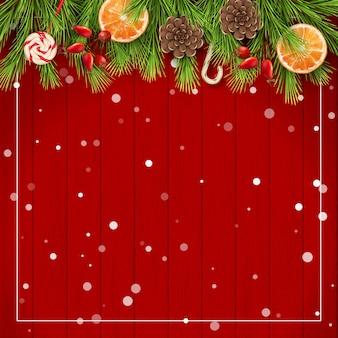 Feliz natal e feliz novo fundo