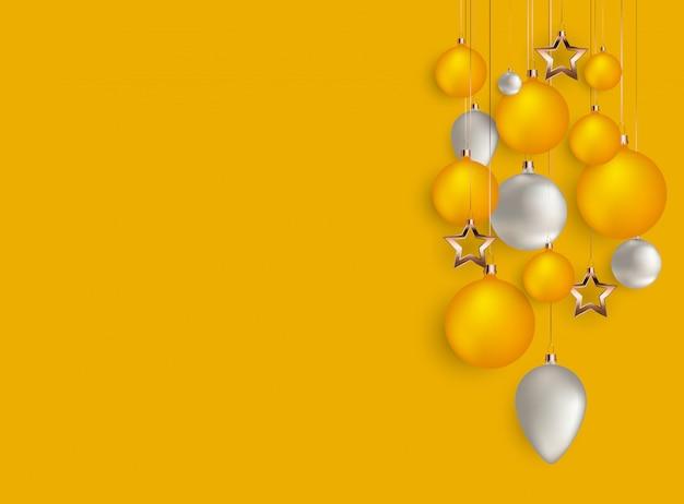 Feliz natal e fundo de ano novo. ilustração vetorial Vetor Premium