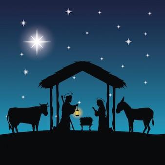 Feliz natal e santa família