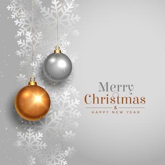 Feliz natal elegante design de cartão festival bonito