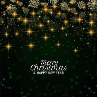 Feliz natal elegante fundo com estrelas cadentes