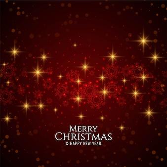 Feliz natal elegante moderno fundo vermelho com estrelas