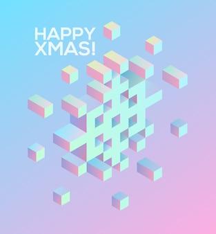Feliz natal! elementos mínimos de decoração de férias para design, cartão postal, cartões, convites, panfleto, adesivo, listra.