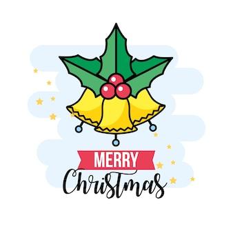 Feliz natal evento com celebração tradicional