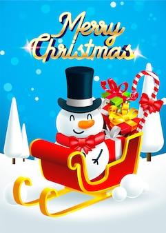 Feliz natal! feliz natal homem da neve