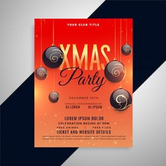 Feliz natal festa saudação convite flyer design