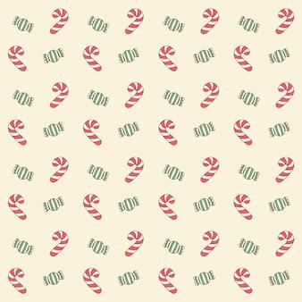 Feliz natal fofo doce vermelho e verde, desenho de fundo padrão para embrulho de presentes