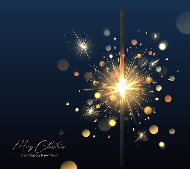 Feliz natal fundo com diamante e efeitos de luz