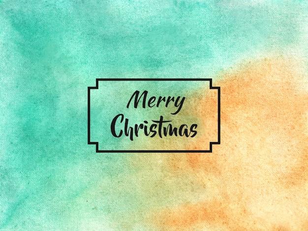 Feliz natal, fundo em estilo aquarela