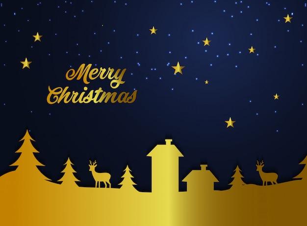 Feliz natal fundo ouro