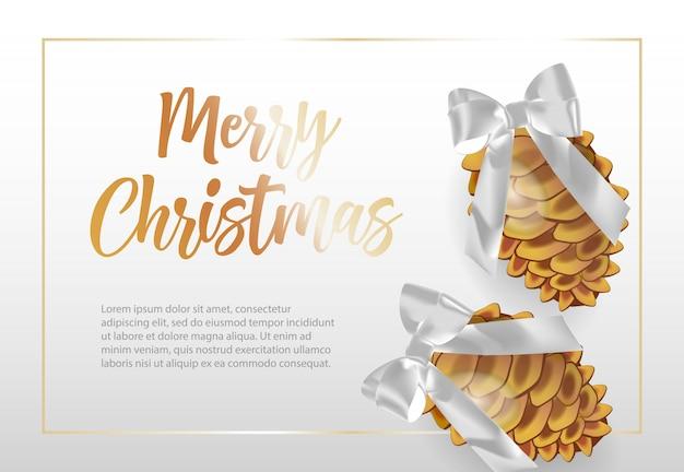 Feliz natal, lettering em moldura com cones