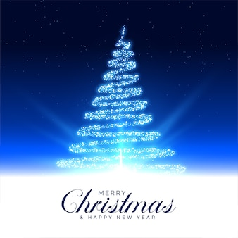 Feliz natal, linda árvore mágica, cartão