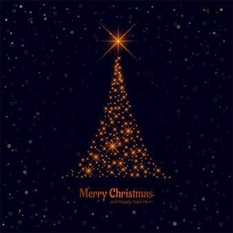 Feliz natal linda brilhante árvore fundo vector