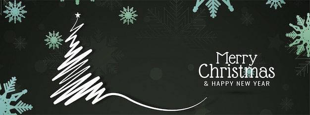 Feliz natal lindo banner festivo