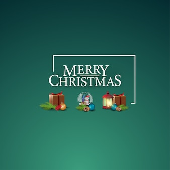 Feliz natal-logotipo com ícones de natal