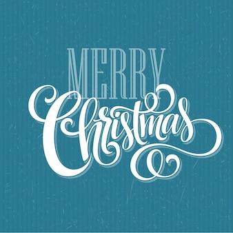Feliz natal manuscrita texto, cartão de felicitações