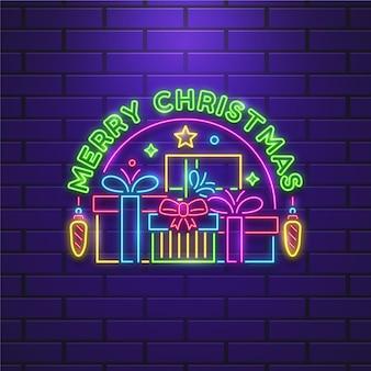 Feliz natal néon