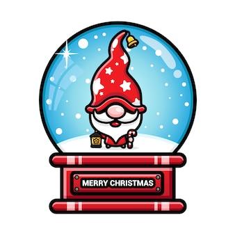 Feliz natal neve com gnomos