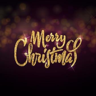 Feliz natal no fundo luz bokhe