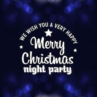Feliz natal noite festa fundo