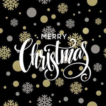 Feliz natal ouro brilhante projeto da rotulação. ilustração vetorial eps 10