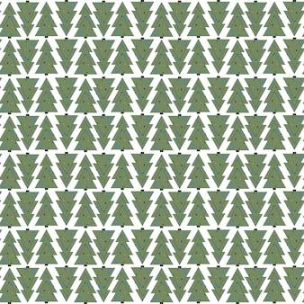 Feliz natal padrão sem emenda geométrico. árvore de natal primitiva e minimalista verde brilhante
