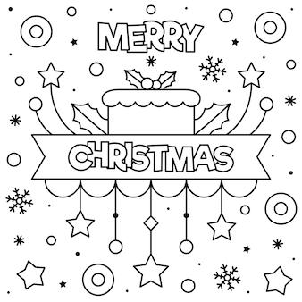 Feliz natal. página para colorir