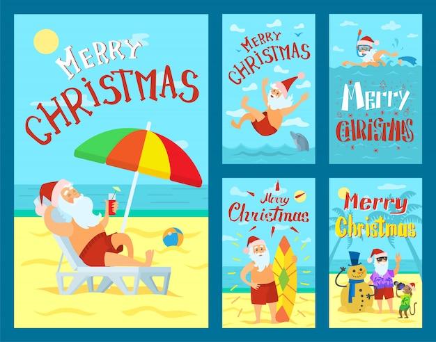 Feliz natal, papai noel feriados aventuras