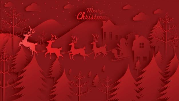 Feliz natal papai noel no céu