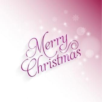 Feliz natal rosa fundo de incandescência