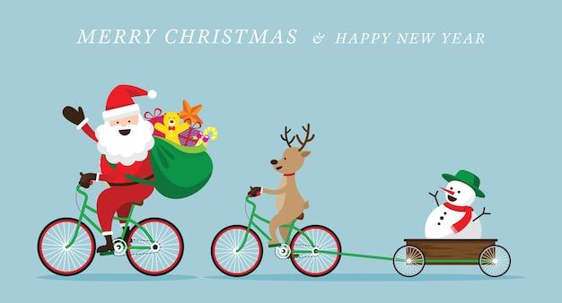 Feliz natal santa saudação